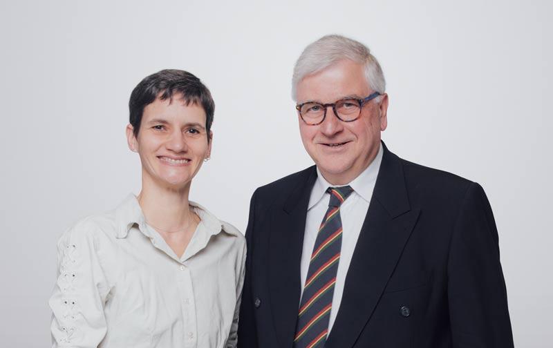 Dr. med. vet. Afra Geißler und Dr. Walter Schubert